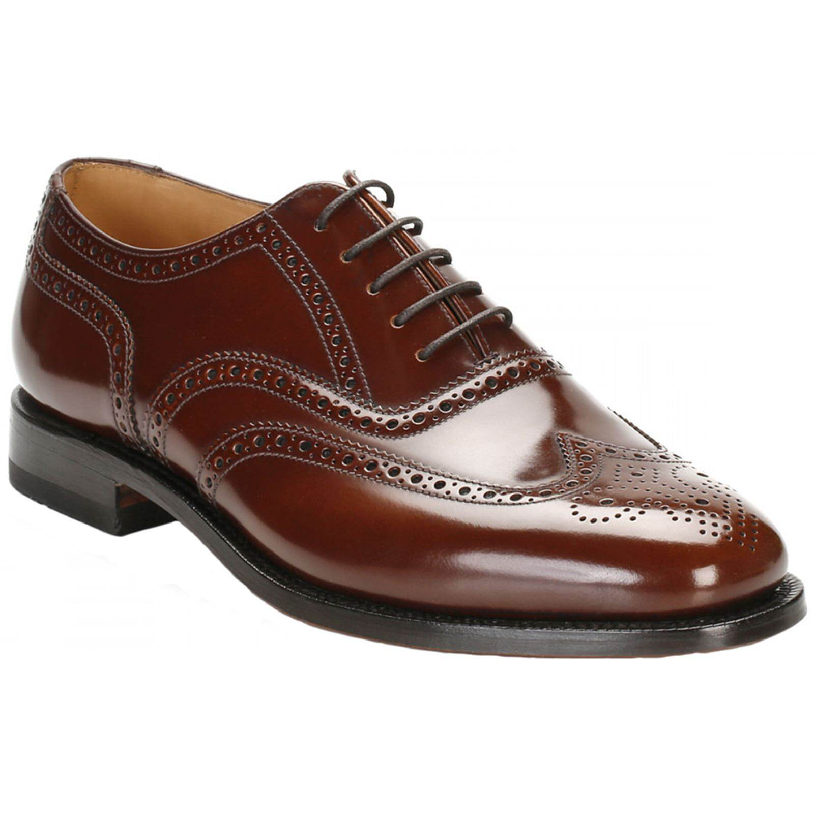 Loake 202 Brown Mens Leather Lace-up Brogues Wingtip Oxford shoes