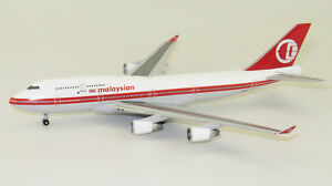 BigBird 1:400 Malaysia Airlines Boeing B747-400 'Retro' 9M-MPP (BB4-2016-002)