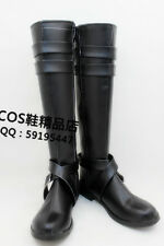 Hitman Reborn Chrome Dokuro Black Cosplay Shoes Boots X002