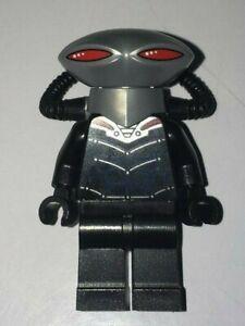LEGO DC Super Heroes Minifigure BLACK MANTA Flat Silver Helmet 76027 Rare