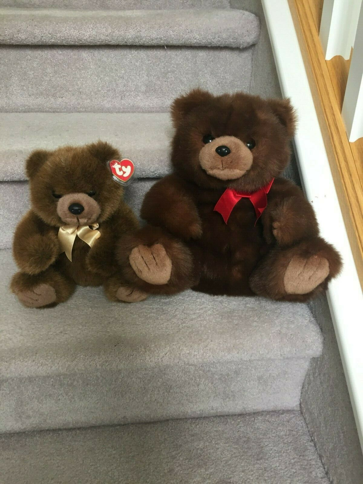 2 Rare Retired Ty Plush Classic Bears 14  McGee and 10  Magee MWMT