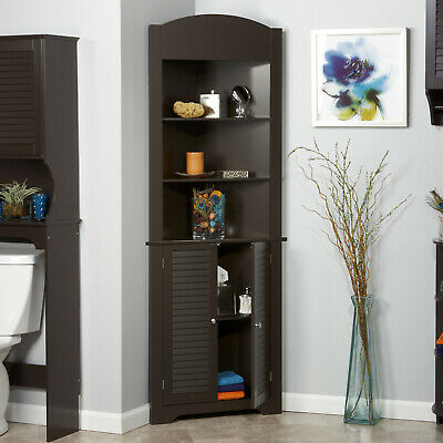 Bathroom Storage Linen Cabinet Bedroom Living Room Corner Cabinets Slim  Wooden 813924012352 | eBay