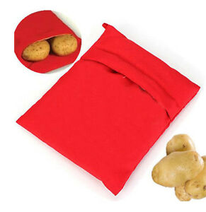 1Pc Potato Baked Microwave Cooker Bag 4 Minutes Kitchen Fast Reusable Washable