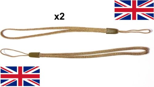 2x Wrist strap BROWN hand wrap lanyard camera general loop safety key grip UK
