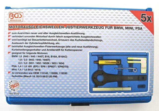 BGS Motor-Einstellwerkzeug BMW Mini Peugeot Citroen Steuerkette Ausgleichswelle