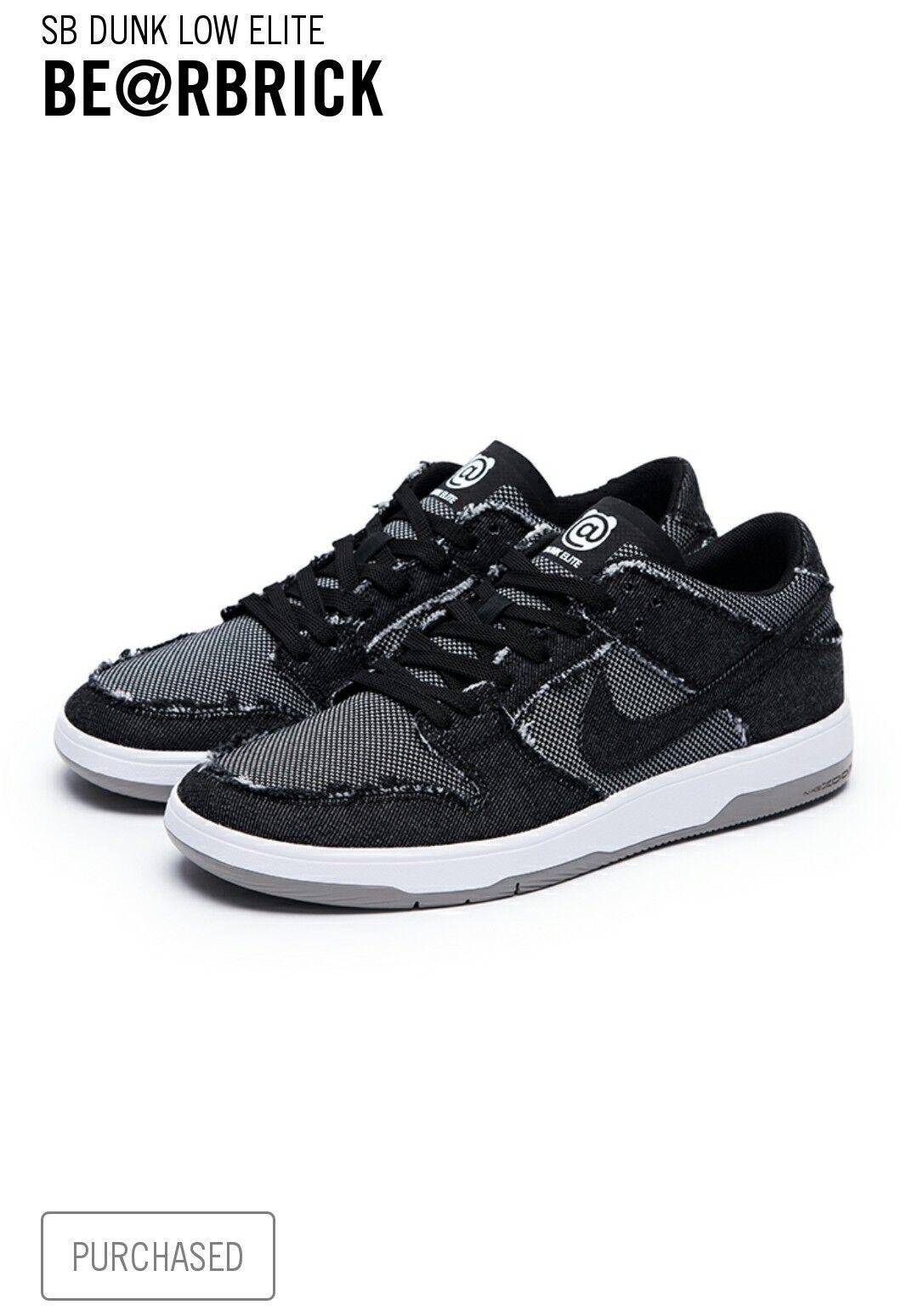 Nike SB x Medicom Zoom Dunk Low Elite QS Sz 11 US * SECURED PAIR * Bearbrick