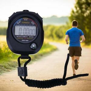 Wasserdichte-Digital-LCD-Stoppuhr-Chronograph-Timer-Counter-Sport-Alarm-A