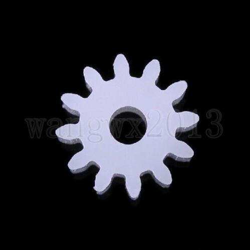 20PCS 12T12 Teeth 0.5 Mold 2//2.5mm Aperture Motor Plastic Gear Wheel for DIY Toy