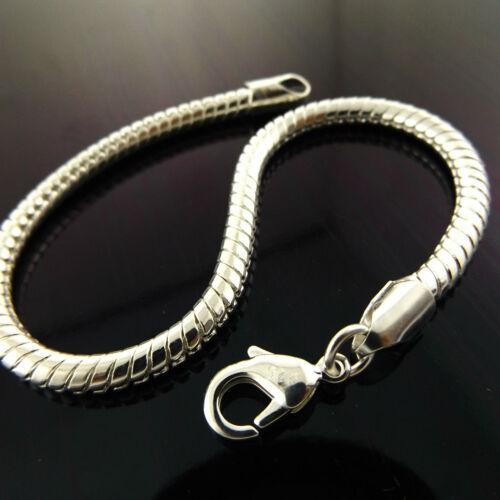 "Bracelet Cuff Bangle Real 925 Sterling Silver S//F Ladies Snake Design 21cm 8/"""