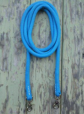 by Natural Equipment Clip On Rope Reins in Blue Your choice of length /& clip