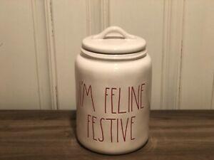 Rae-Dunn-HG-Christmas-By-Magenta-IM-FELINE-FESTIVE-Farmhouse-Canister-Red-Letter