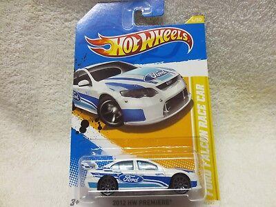 C7 White Ford Falcon Race Car #4 2012 Hot Wheels