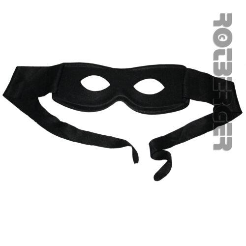 Zorro Bandit Maske Stoff Augenmaske für Erwachsene schwarz Fasching Karneval WID