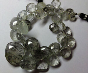 Gorgeous-Rutilated-Quartz-Black-Faceted-Hearts-Gemstone-Beads-5-14mm-8Inch