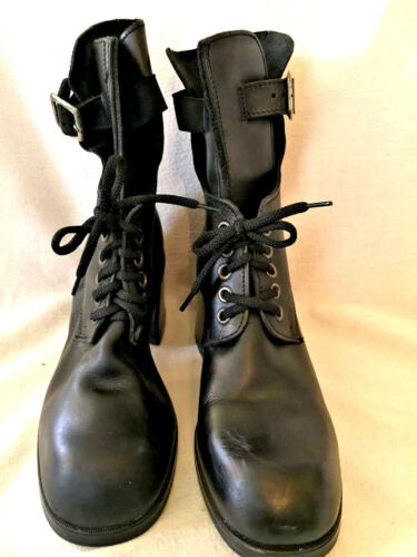 Semelle Elastomere Womens Ankle Boot Black Size 8.5