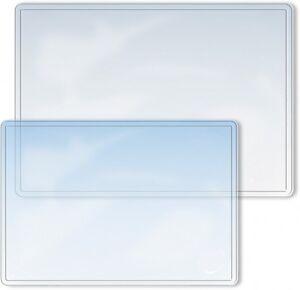60 x 40 cm glasklare Schreibtischunterlage mit glatter Oberfl/äche f/ür B/üro und Arbeitsplatz Tischauflage transparente Schreibunterlage OFFICE POINT abwischbar