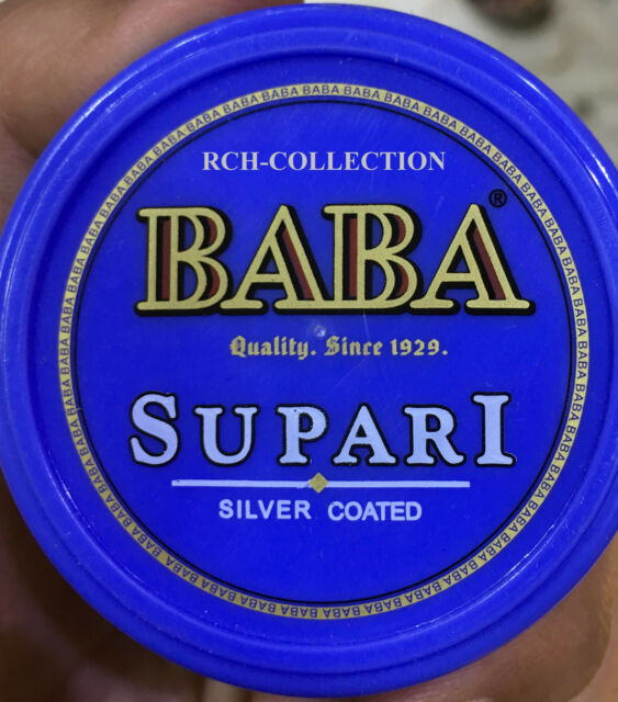 30X10 GM BABA SILVER COATED SUPARI MOUTH FRESHENER WITH LOWEST SHIPPING CHARGES