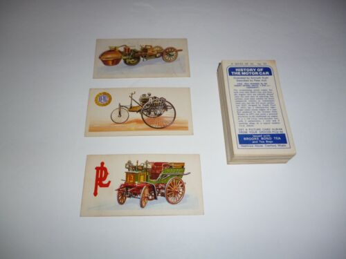 Early Brooke Bond Tea Cards History of the Motor Car   Complete Set