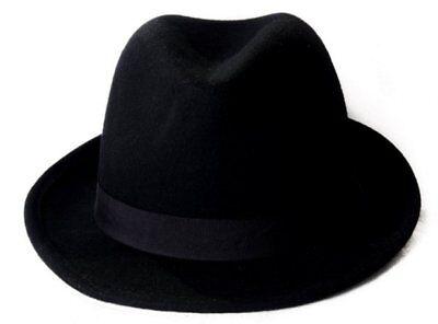Ben Informato Pura Lana Feltro Borsalino Cappello-taglia 55cm-mostra Il Titolo Originale