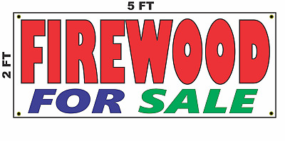 FIREWOOD FOR SALE  Advertising Vinyl Banner Flag Sign Many Sizes CAMPING SMORES