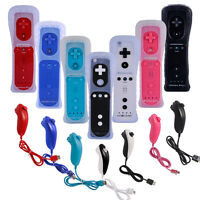2in1 Built In Motion Plus Remote Game Controller+nunchuck For Nintendo Wii&wii U