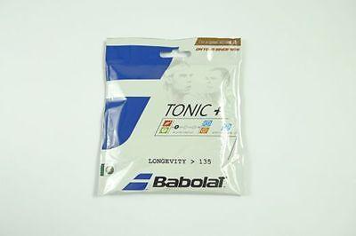 * Nuovo * Babolat Tonic + Longevity Set 1.35mm Tennis 12m Natura Intestino New Natural String-