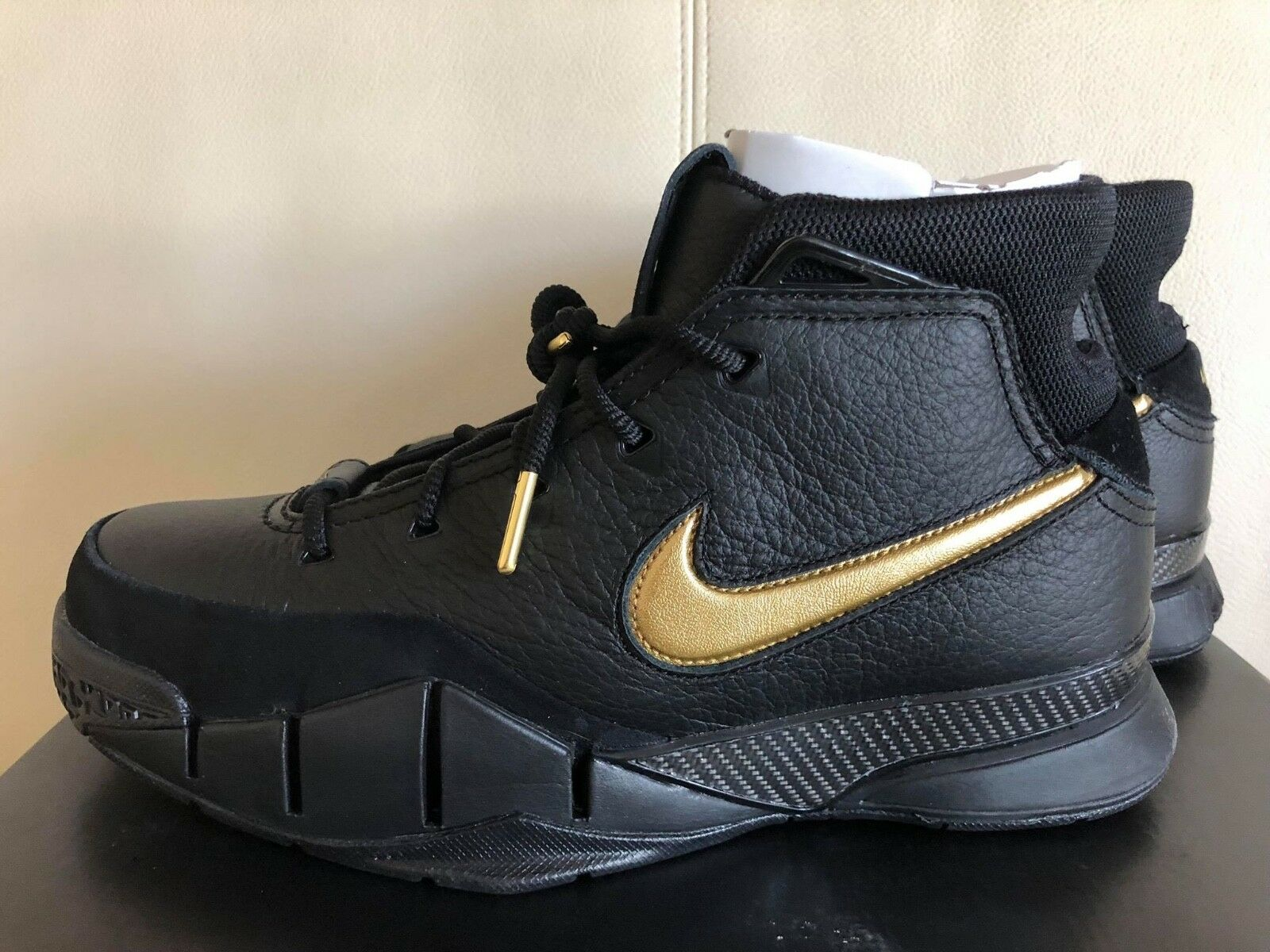Nike Kobe 1 Protro Mamba Day AQ2728-002 Black Metallic Gold Basketball Shoes NIB