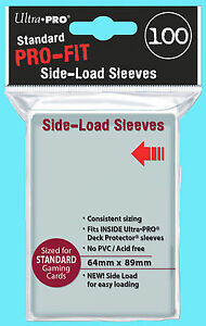 100-ULTRA-PRO-FIT-Standard-Size-SIDE-LOAD-Card-INNER-SLEEVE-Double-64x89-Perfect