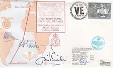 RD5 Record Flight UK - Falklands Signed A C Montgomery,J Vinales Vulcan Crew