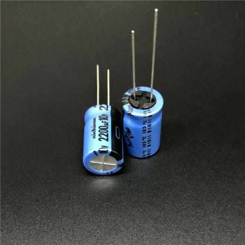 5pcs//50pcs 2200uF 10V 2200uf Nichicon KT 13x20mm 10V2200uF HiFi Audio Capacitor