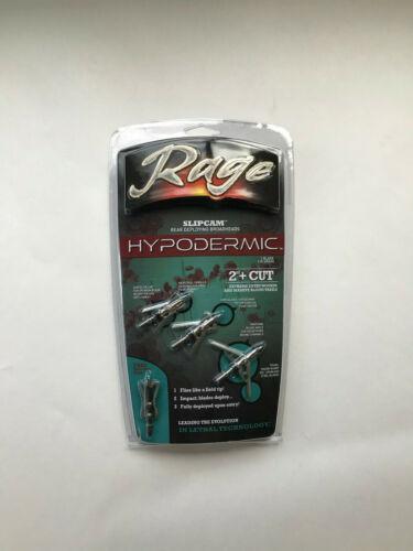 "1 pk Rage Hypodermic SlipCam 2 Blade 100 Grain 2/"" Cut Mechanical Broadheads"