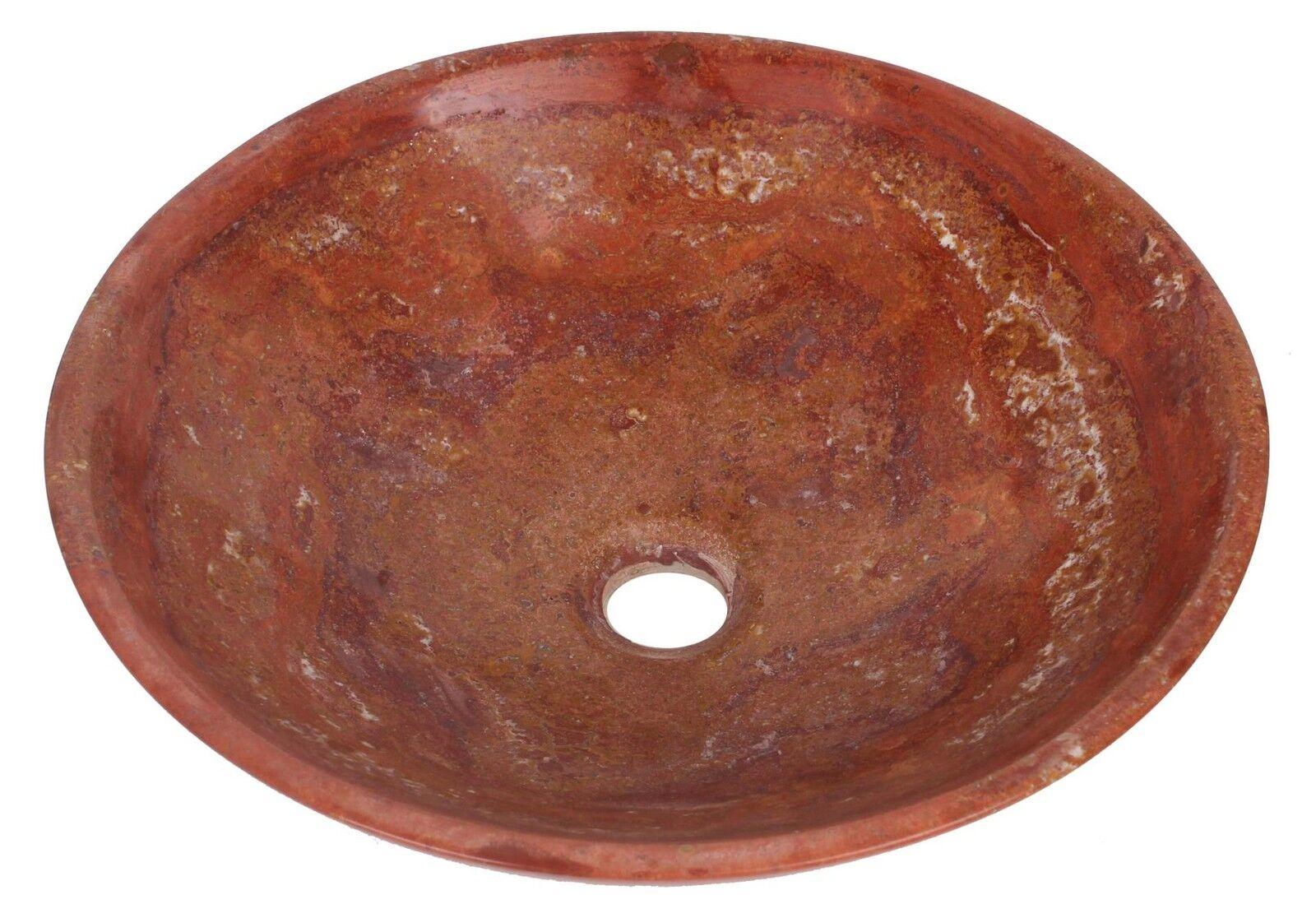 Travertin marbre rond bol salle de bains de lavabo diamètre 350mm B0064