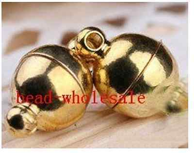 10 Sets Silver Golden Two Parts Powerful Magnetic Round Clasps Jewelry Findings