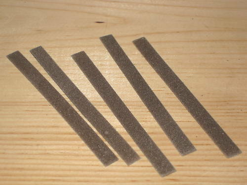 5 Flex files contact burnishing course cleaning .025 thick points file 120 grit