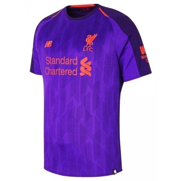 New balance Liverpool 2018 - 2019 lejos de Fútbol Jersey Niños Púrpura-Juventud