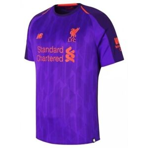 huge discount 5ee7a 2d0e2 Details about New Balance Liverpool 2018 - 2019 Away Soccer Jersey Purple  Kids - Youth