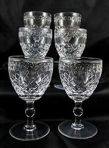Set of 6 Cut Crystal Stevens amp Williamson Wine Glasses 12 cm039s - WORCESTERSHIRE, United Kingdom - Set of 6 Cut Crystal Stevens amp Williamson Wine Glasses 12 cm039s - WORCESTERSHIRE, United Kingdom
