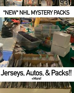 NEW MYSTERY NHL HOCKEY CARDS PACK! *READ DESC* PACKS-AUTOS-JERSEYS!!! 100+ SOLD!