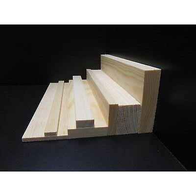 1Stk  2,40m Rechteck Holzleiste massiv Kiefer