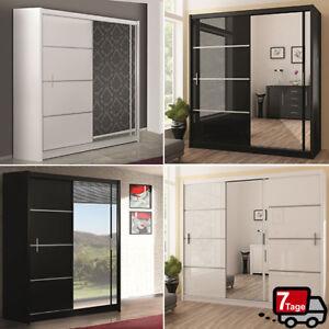 kleiderschrank vista mit spiegel schiebet ren farb und breitenauswahl m bel ebay. Black Bedroom Furniture Sets. Home Design Ideas