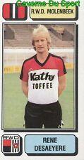 207 RENE DESAEYERE BELGIQUE RWD.MOLENBEEK STICKER FOOTBALL 1983 PANINI