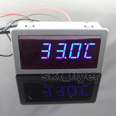 """0.56/""""  F//C 12V DC Red LED Digital Car Meter Thermometer 55-125°C DS18B20 Sensor"""