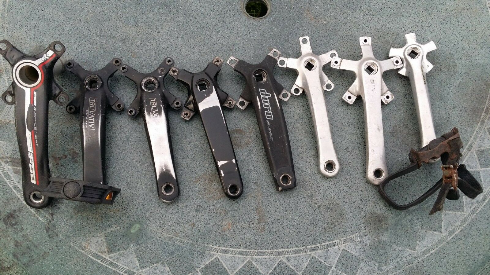 BICYCLE CRANKSET RIGHT HAND SIDE VARIOUS MAKE AND SIZE