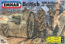 EMHAR 7202 -  WW1 British Artillery With 18 Pdr Gun - New (1:72) Kit.