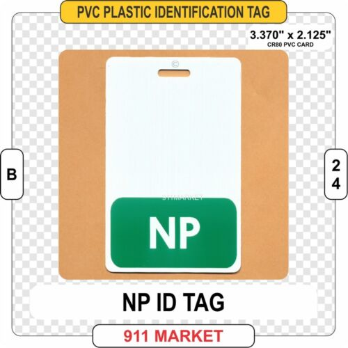 NP ID TAG Identification Card Badge Charge Nurse Practitioner RN RPN LPN B 24