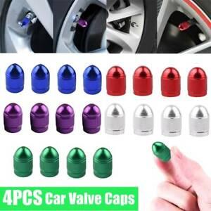 4PCS Black Mini Tire Wheel Rims Stem Air Valve Caps Tyre Cover Car Truck Bike
