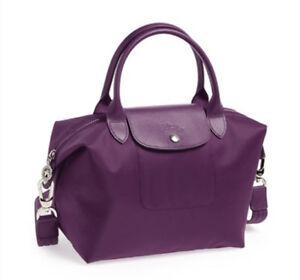 fee6ba09fd96 Image is loading Longchamp-Le-Pliage-Neo-Small-Handbag-Bilberry-100-