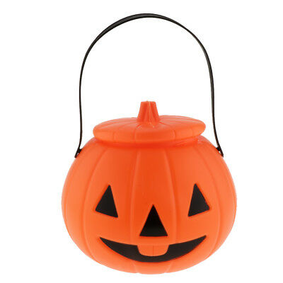 Halloween trick or trick craft design bucket in 4 Colours for novelty fun