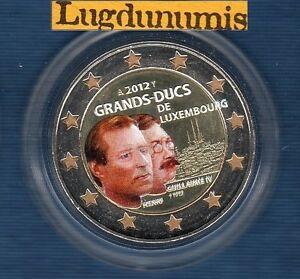 2 euro Commémo Couleur Color - Luxembourg 2012 Grand Duc Henri et Guillaume IV