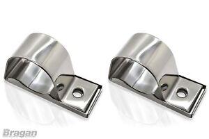 2x-63mm-Stainless-Spot-Light-Brackets-For-A-Bar-Nudge-Bull-Bar-Truck-Light-Bar